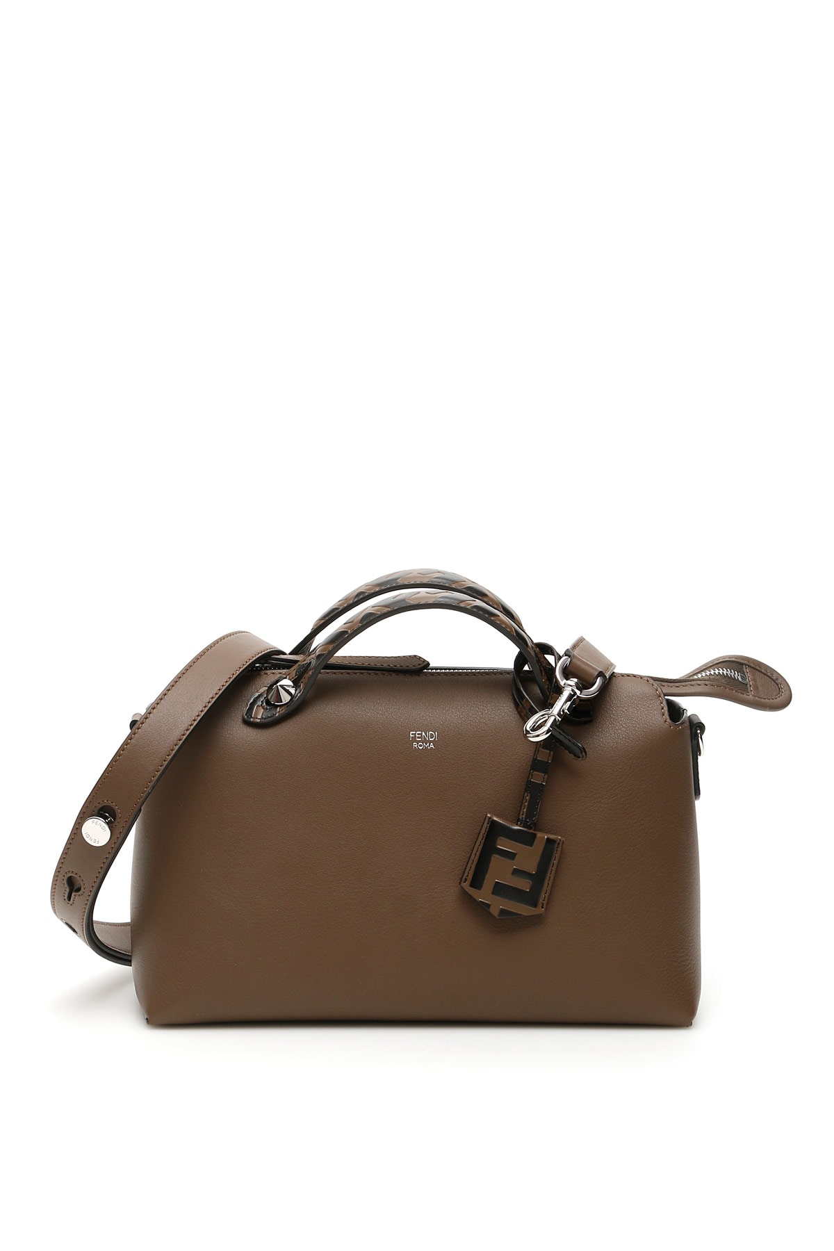 FENDI BY THE WAY FF BAG OS Brown Leather