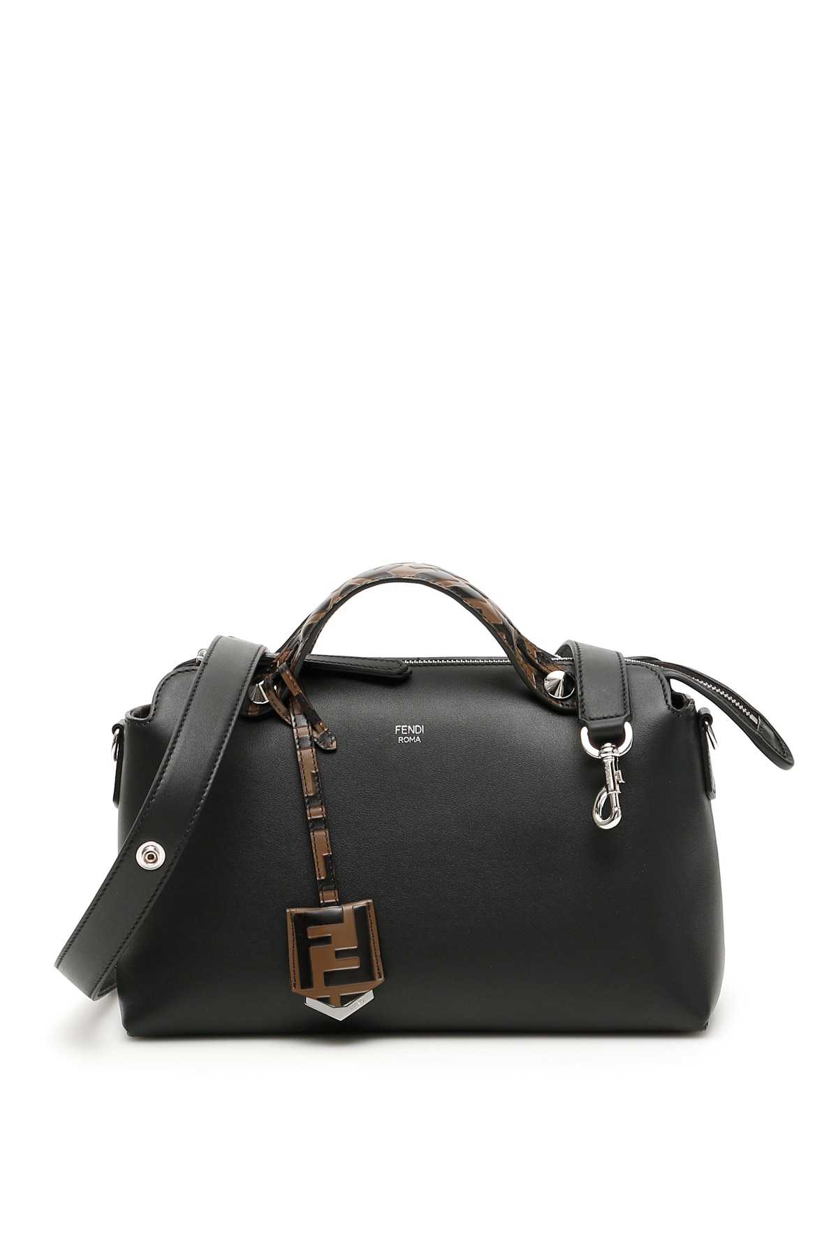 FENDI BY THE WAY FF BAG OS Black, Brown Leather