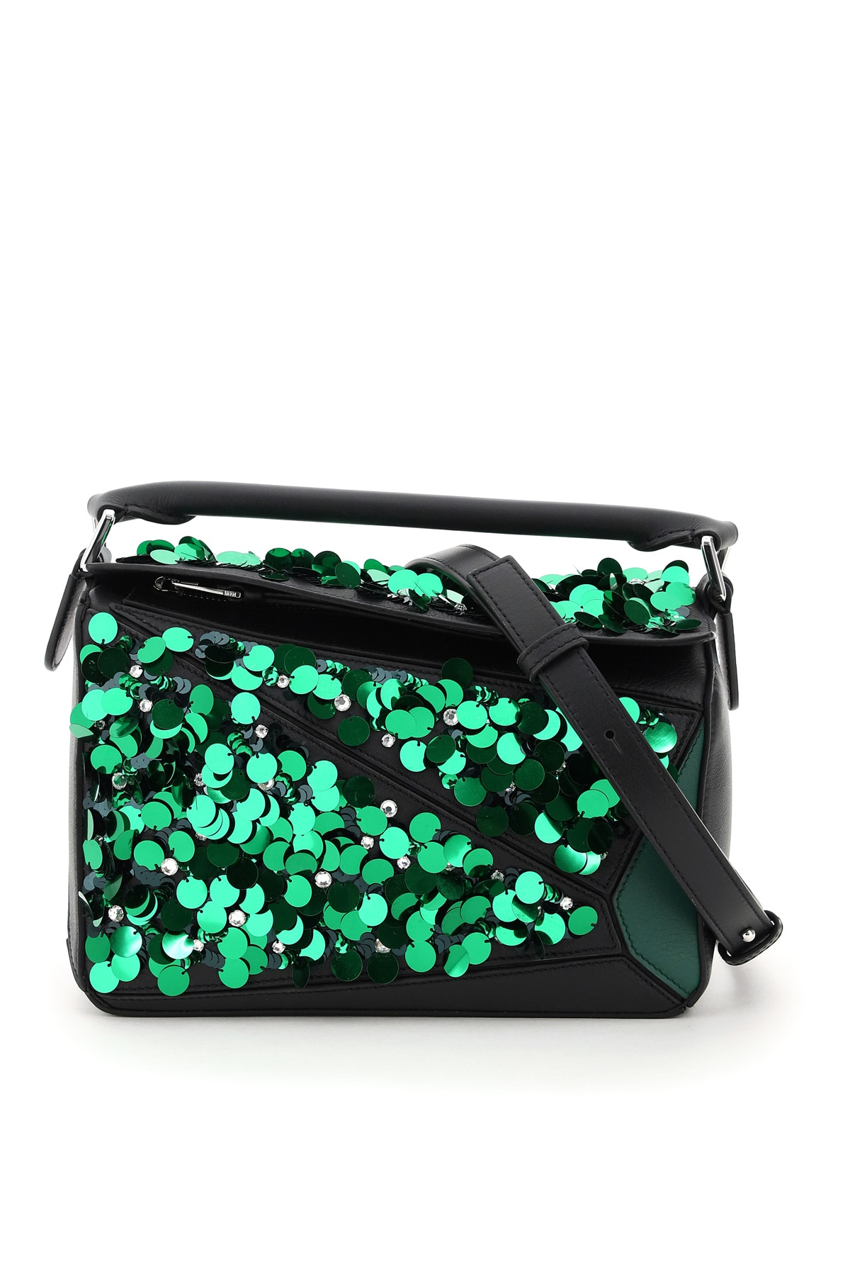 Loewe Leathers SMALL PUZZLE BAG WITH SEQUINS