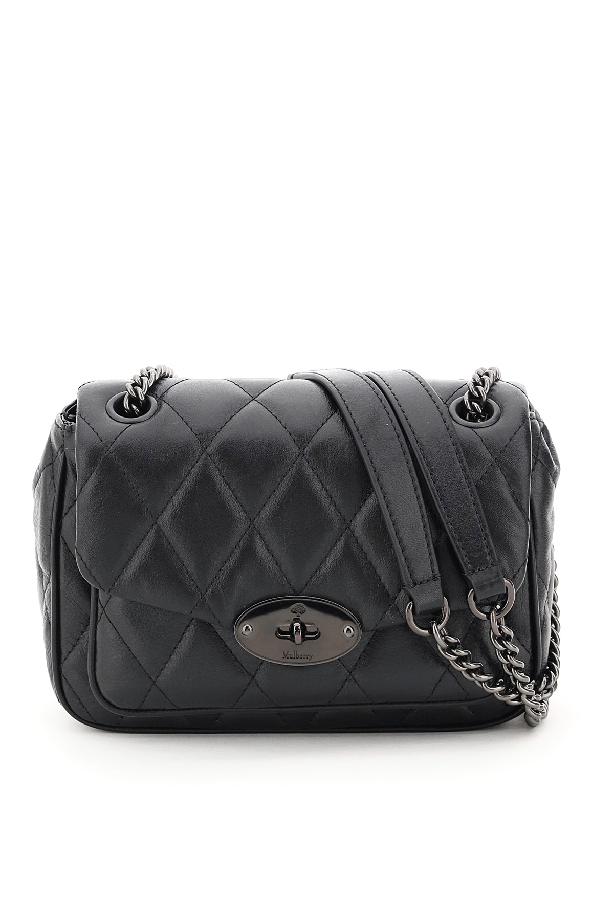 MULBERRY DARLEY MINI QUILTED BAG OS Black Leather