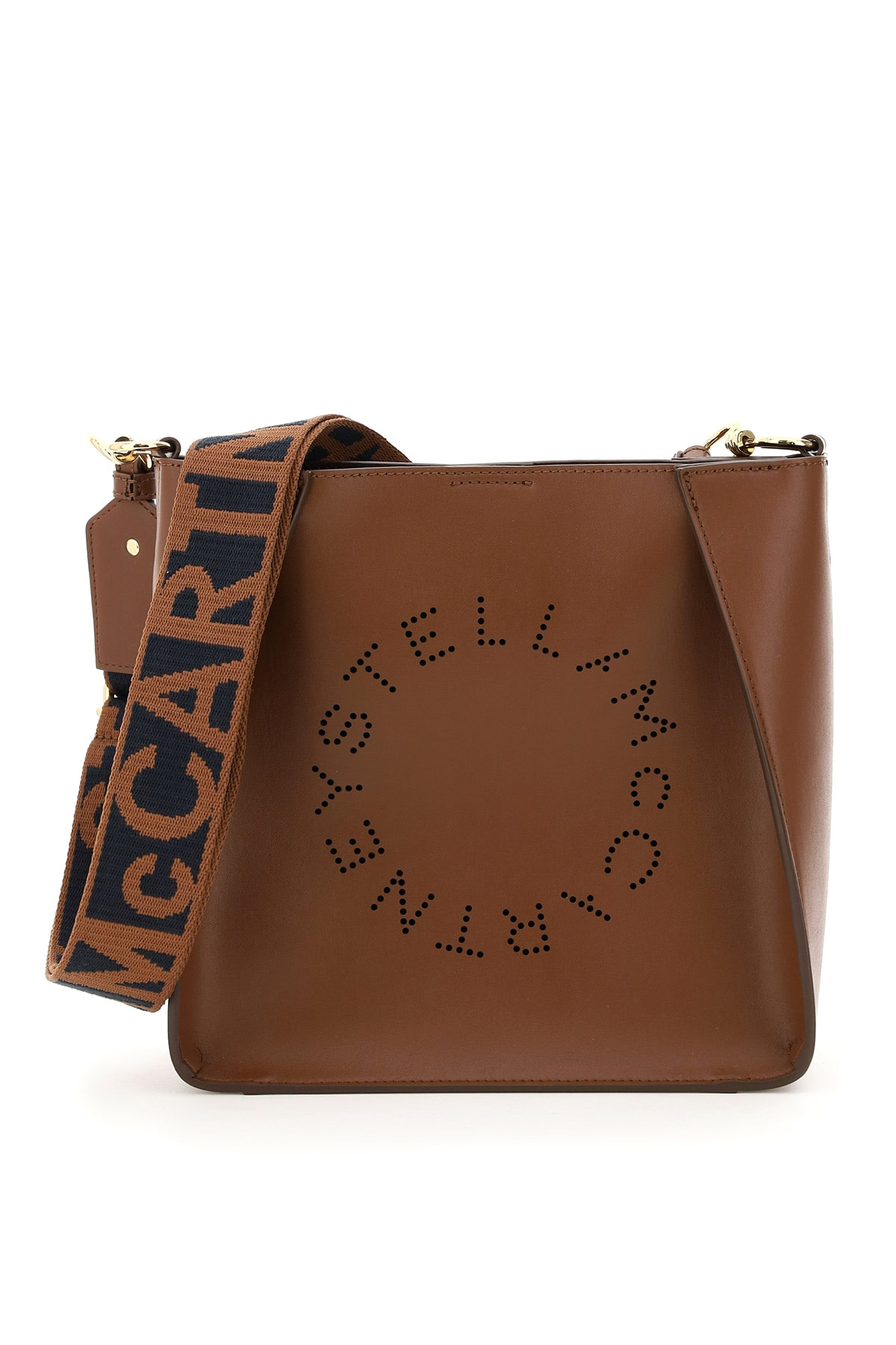 Stella Mccartney STELLA PERFORATED LOGO SHOULDER BAG