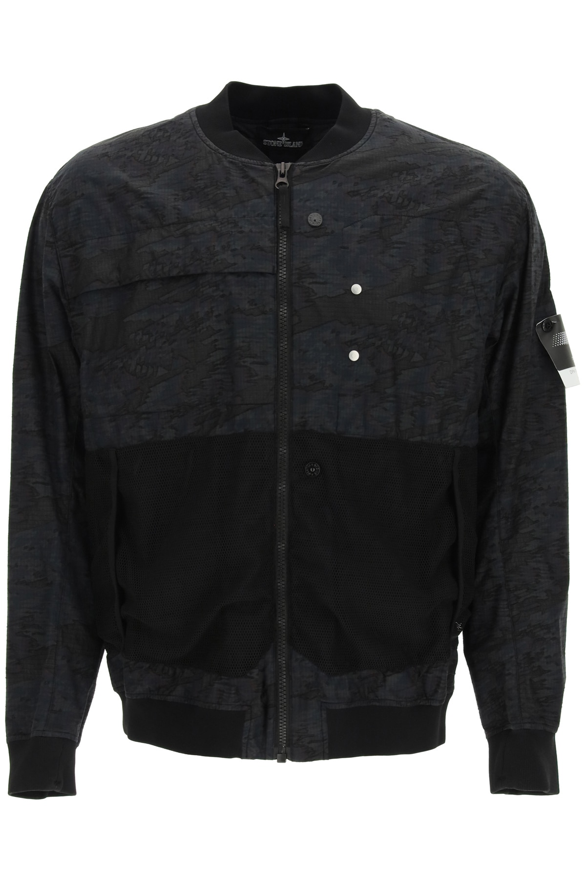 STONE ISLAND SHADOW PROJECT BOMBER JACKET IN DPM RIPSTOP DEVORE' L Blue Cotton, Technical