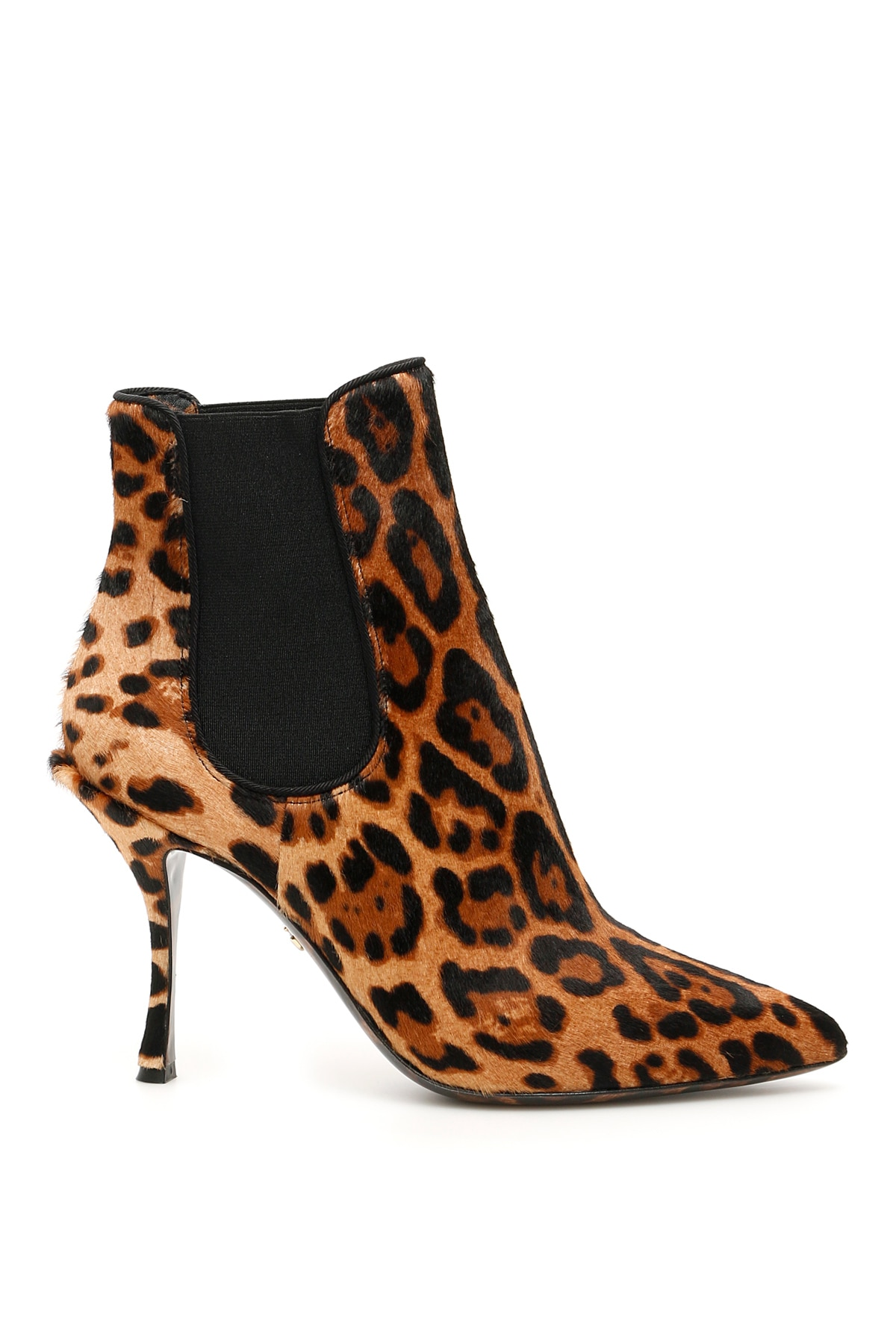 Dolce & Gabbana Animalier Lori Ankle Boots 36 Beige, Black, Brown Leather