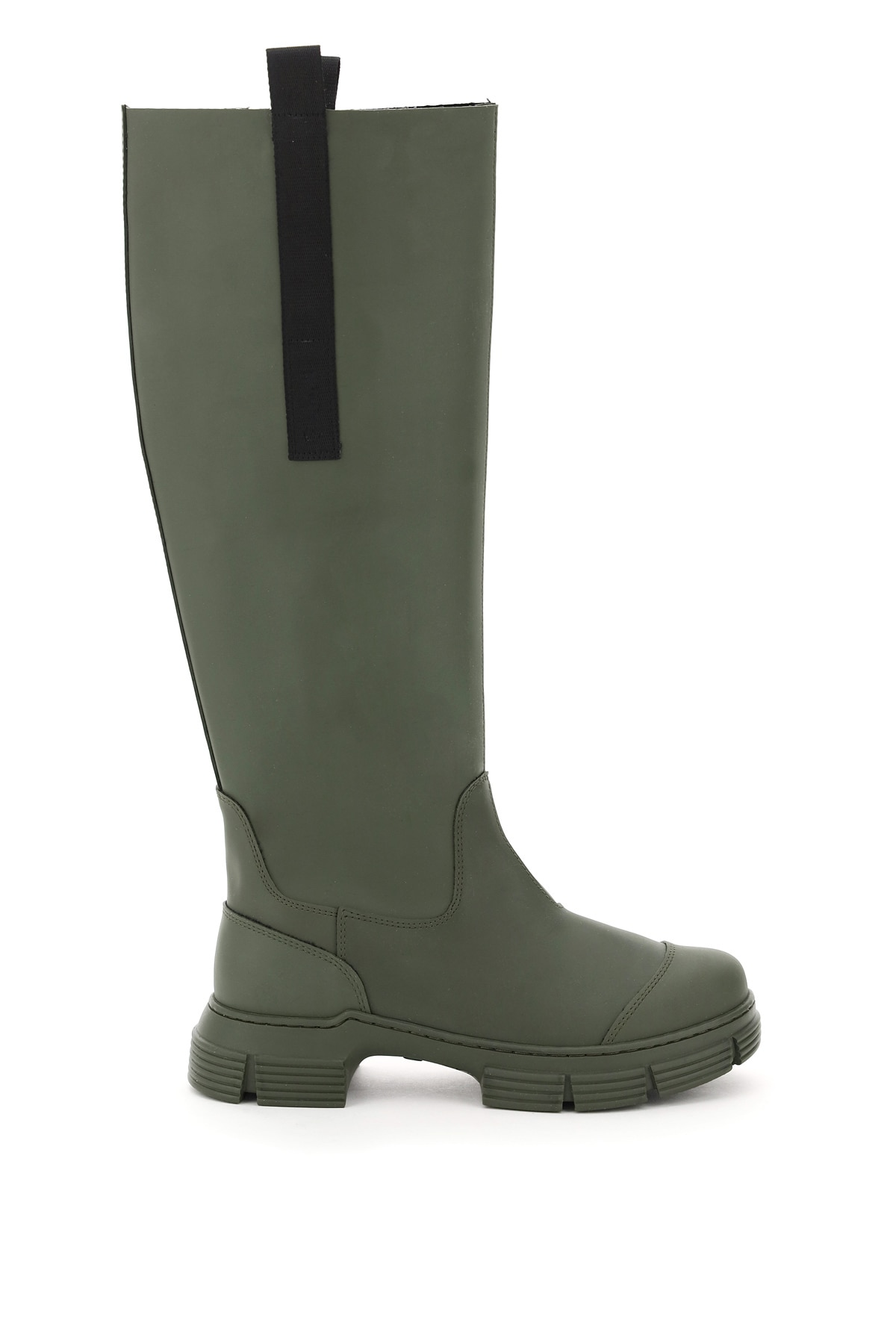Ganni Recycled Rubber Boots 36 Green, Black