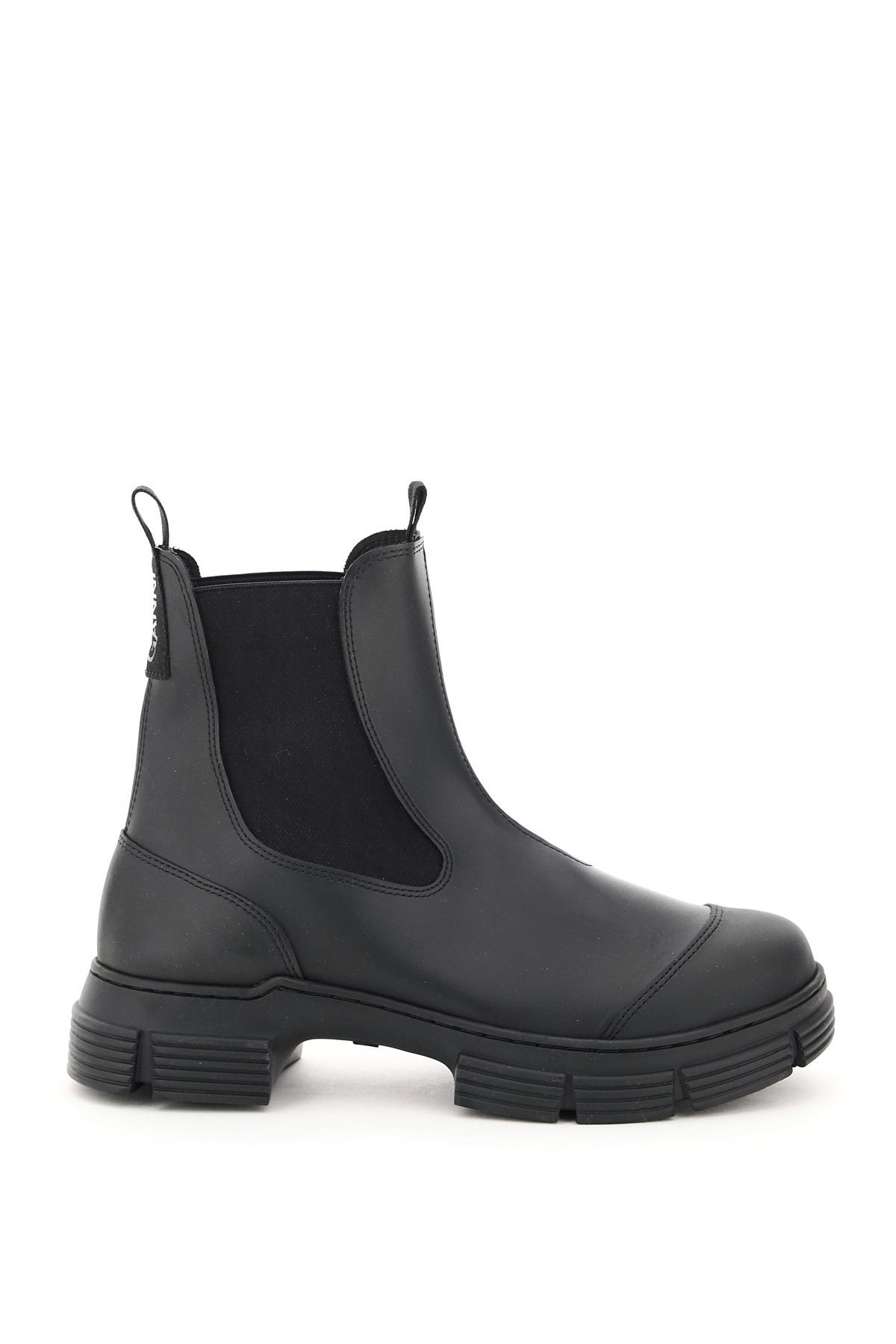 Ganni Recycled Rubber Chelsea Boots 38 Black