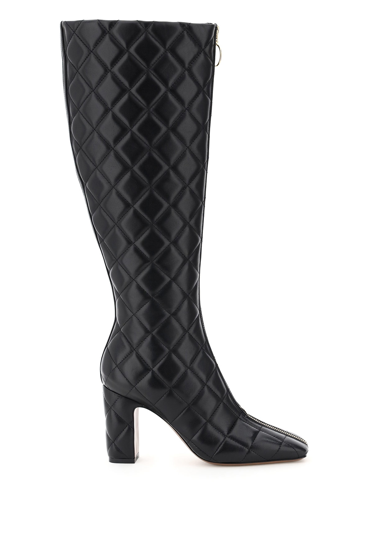 L'autre Chose High Boots In Quilted Nappa 36 Black Leather