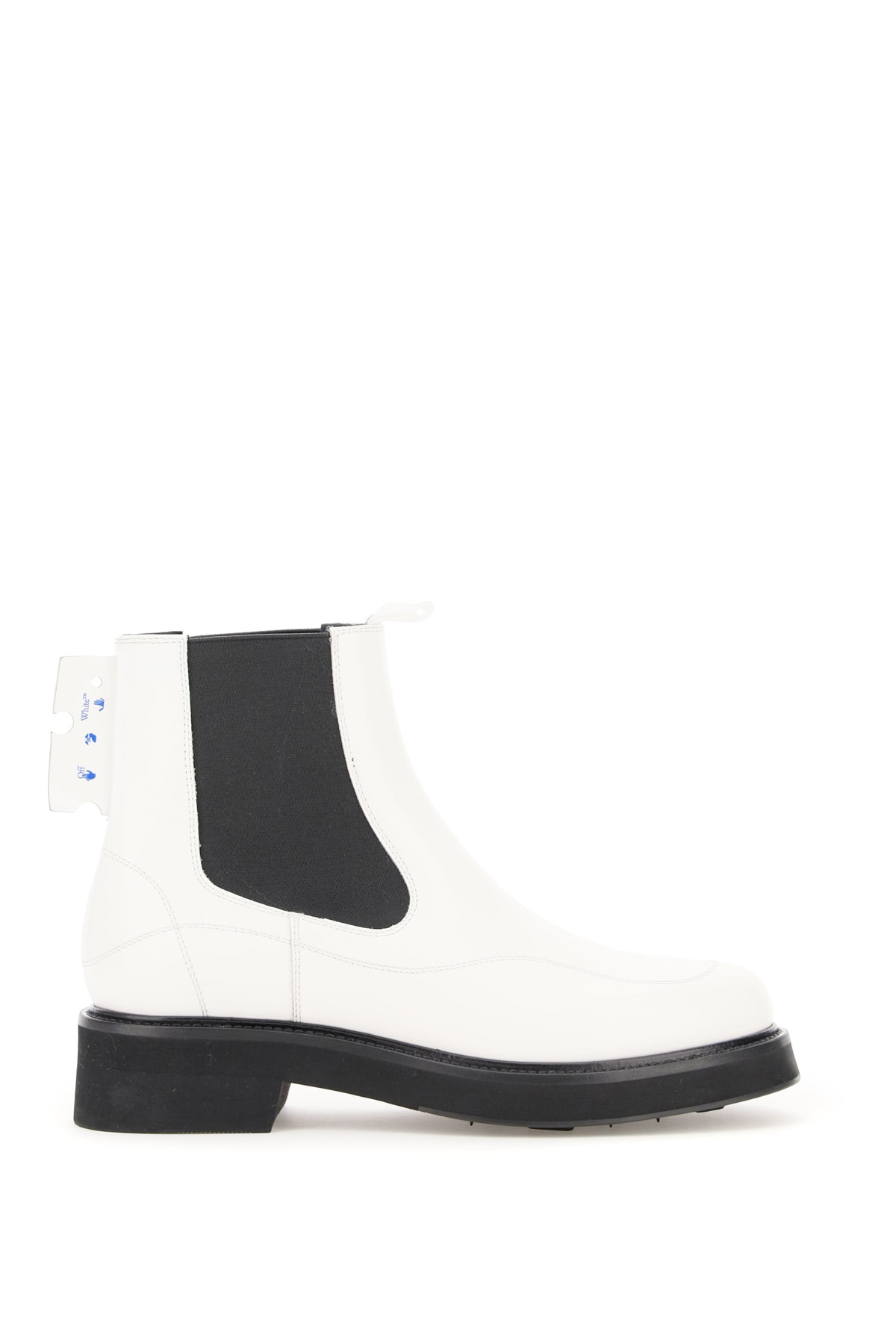 Off-White Chelsea Boots 36 White, Black Leather