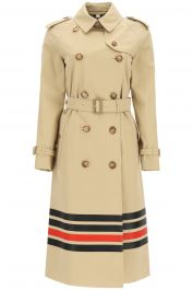 Burberry waterloo trench coat with stripes