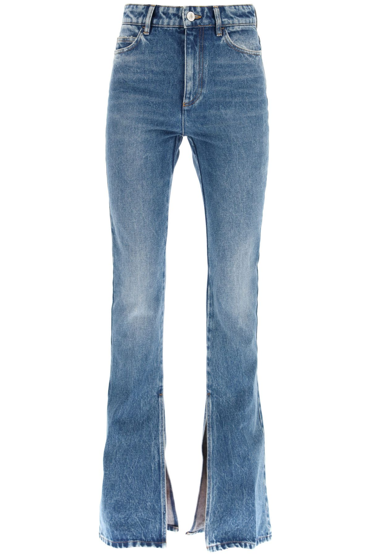 the attico clothing women flared jeans