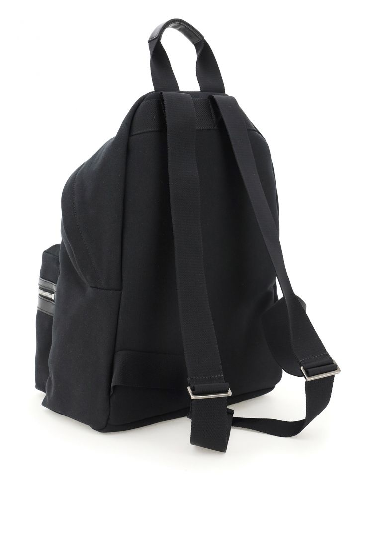 palm angels backpacks cotton backpack with logo