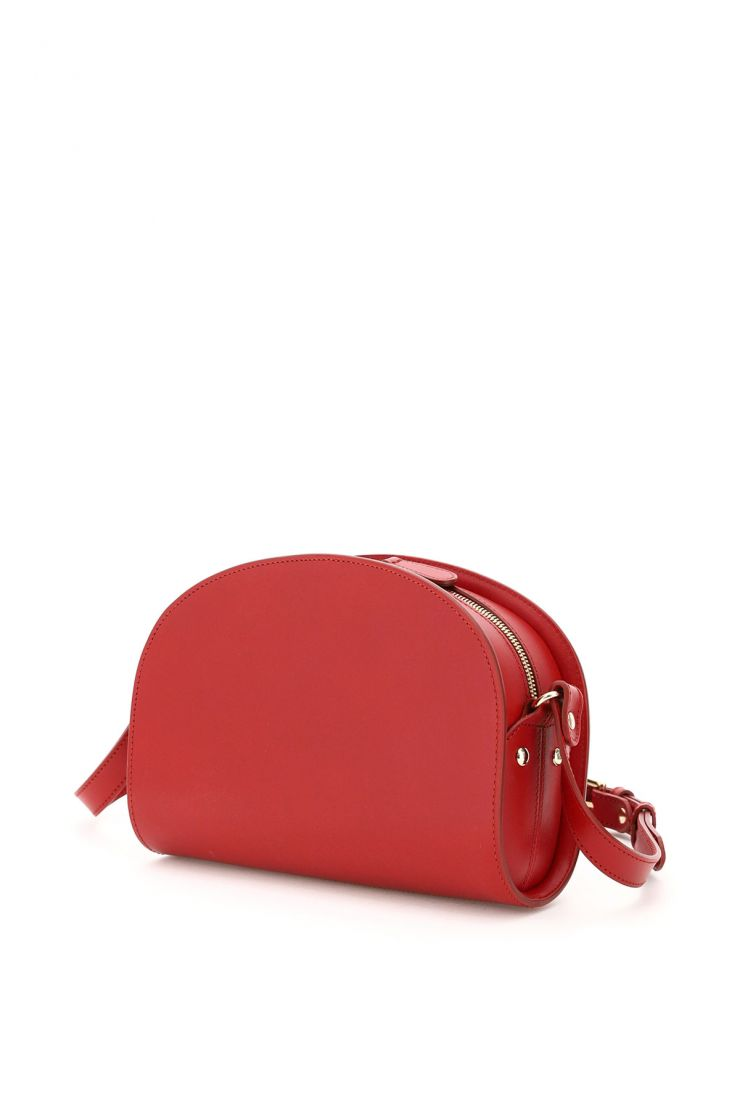 a.p.c. what to wear demi lune crossbody bag