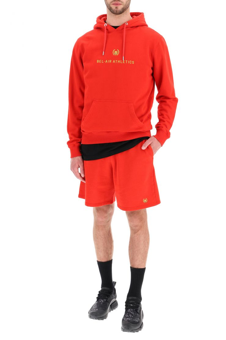 bel-air athletics activewear for life academy crest sweat shorts