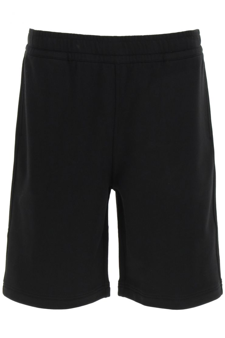 burberry activewear for life geographical coordinates print shorts