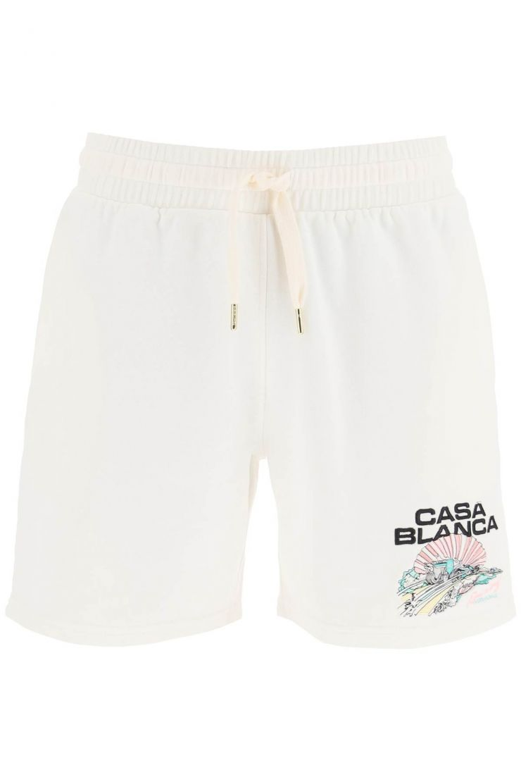 casablanca bra881 racing shell shorts with embroidery