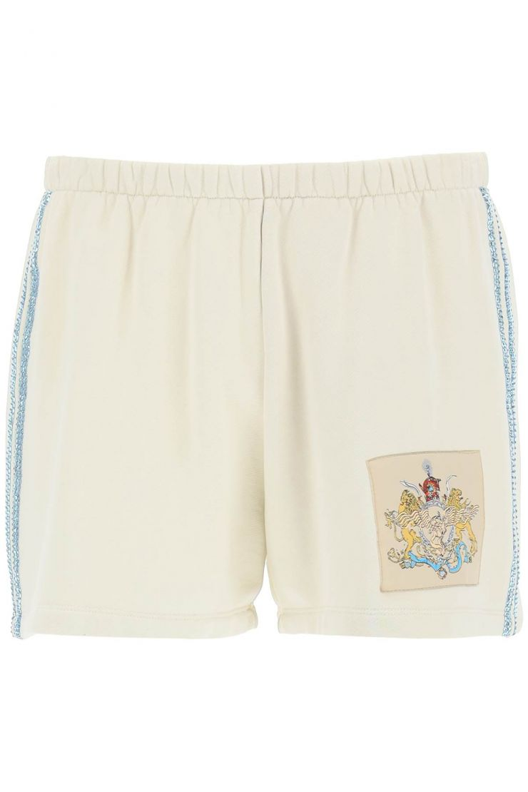 liberal youth ministry trousers logo sport shorts with crystals