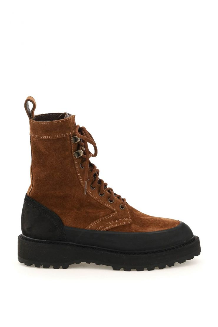 diemme boots and booties altivole suede leather lace-up boots