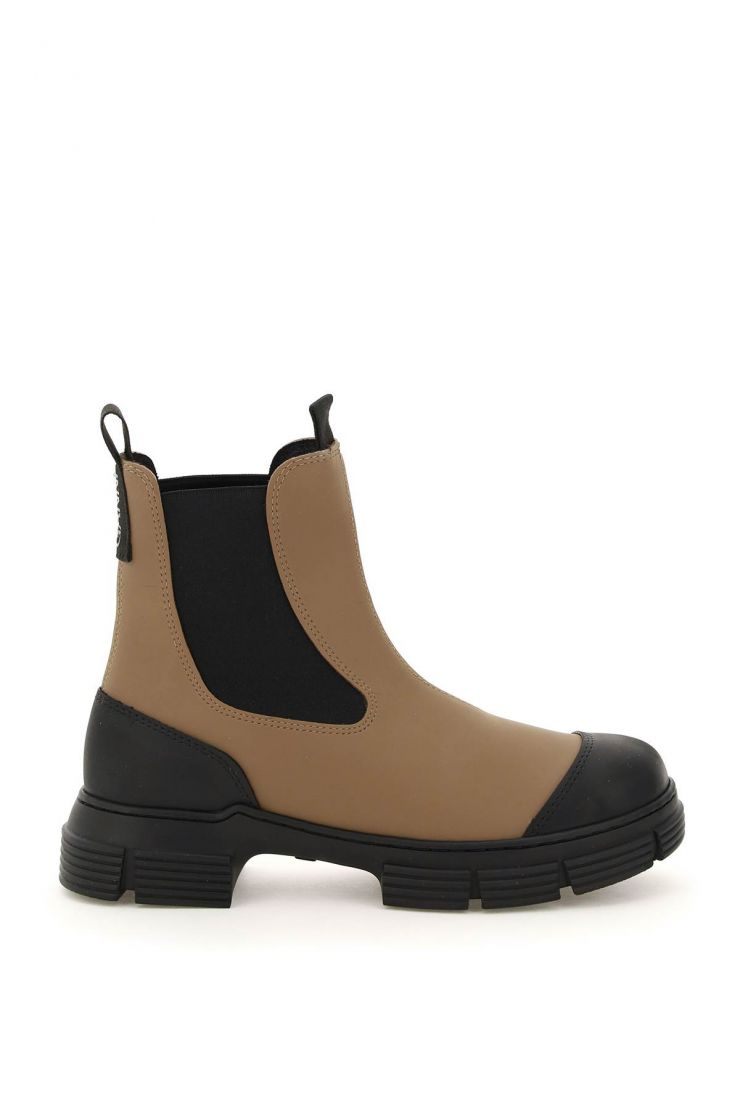 ganni boots and booties recycled rubber chelsea boots