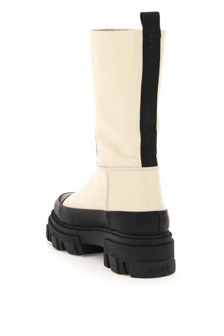 ganni boots and booties tubular leather boots