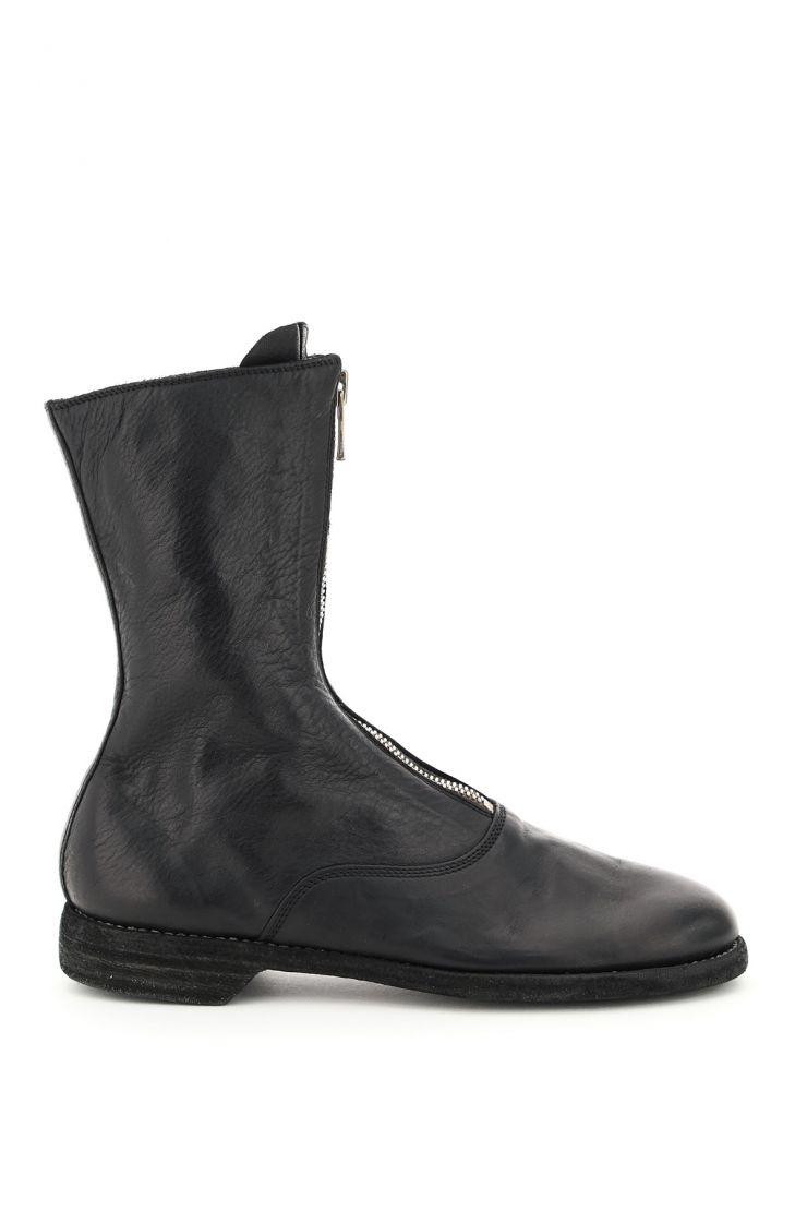guidi boots and booties front zip leather ankle boots
