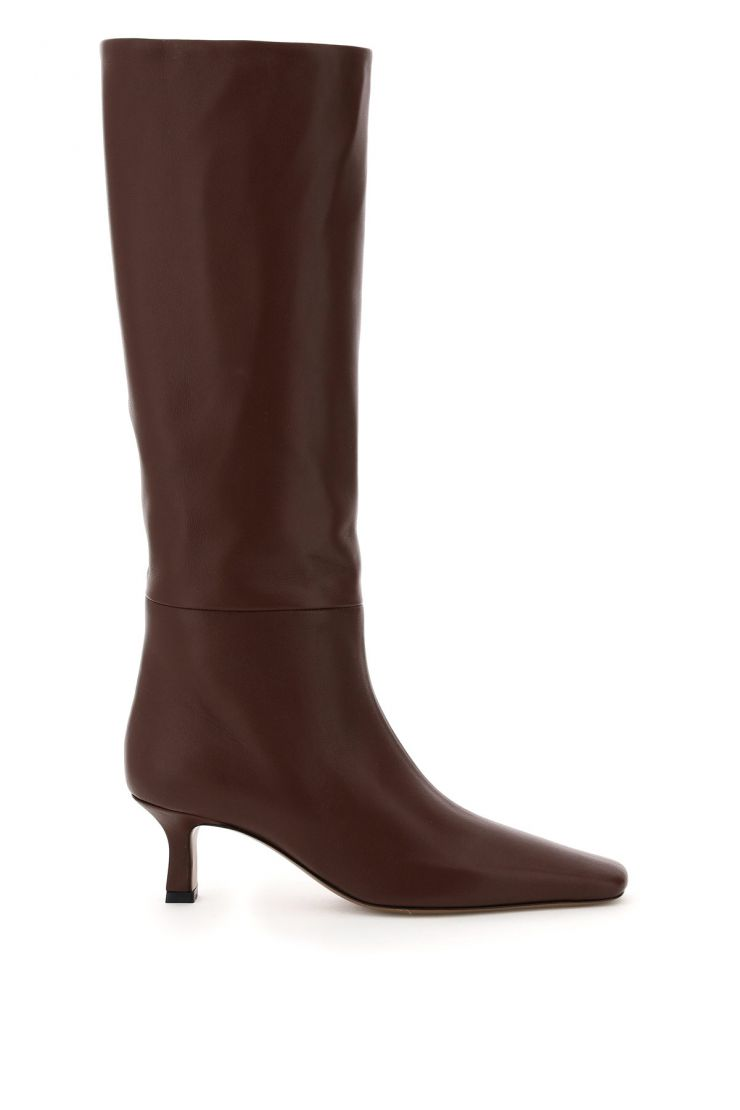 neous bra901 leather slouchy boots