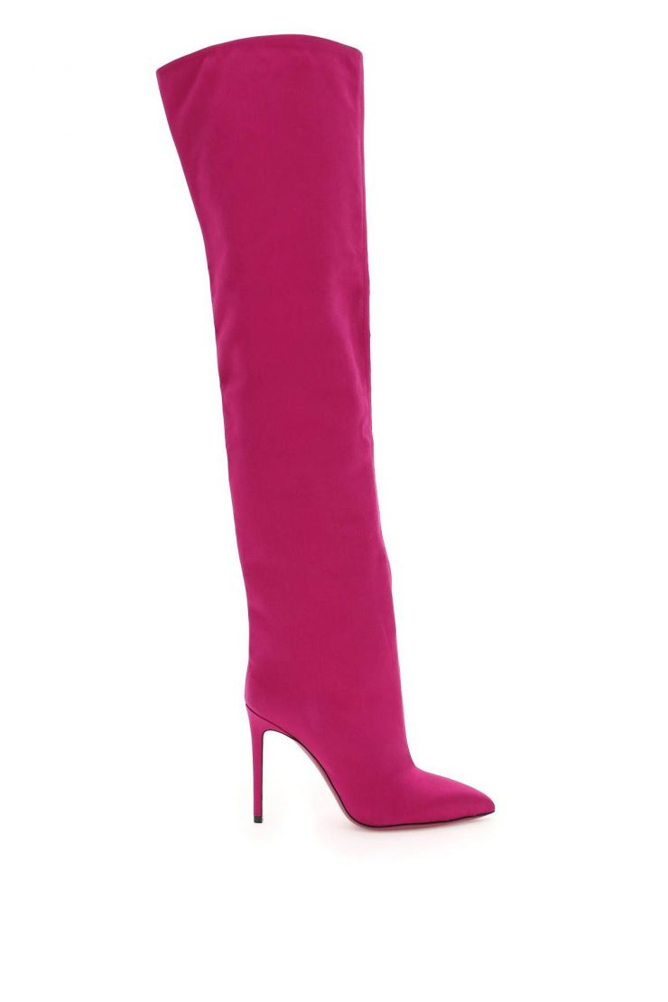 paris texas boots and booties satin over the knee boots