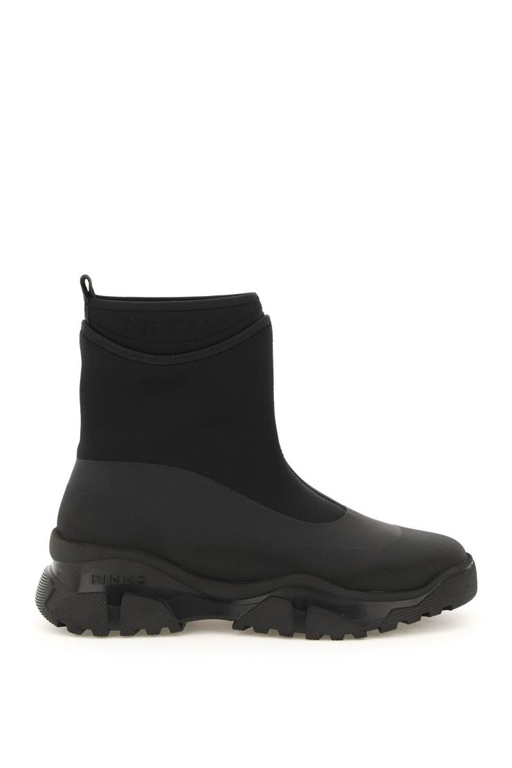pinko boots and booties trek rubberized boots