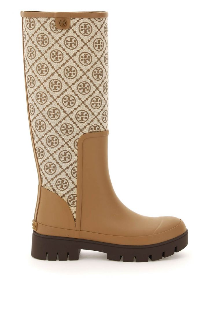 tory burch boots and booties t monogram rain boots
