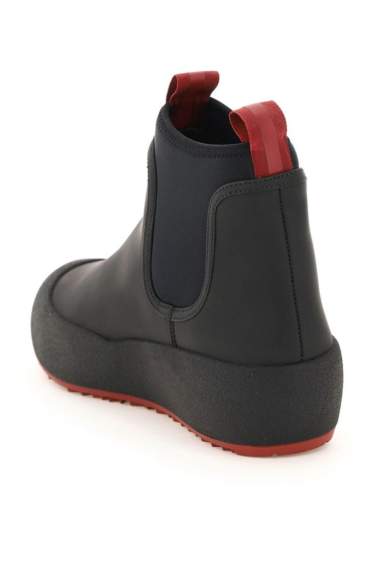 bally boots cubrid ankle boots in rubber-coated leather