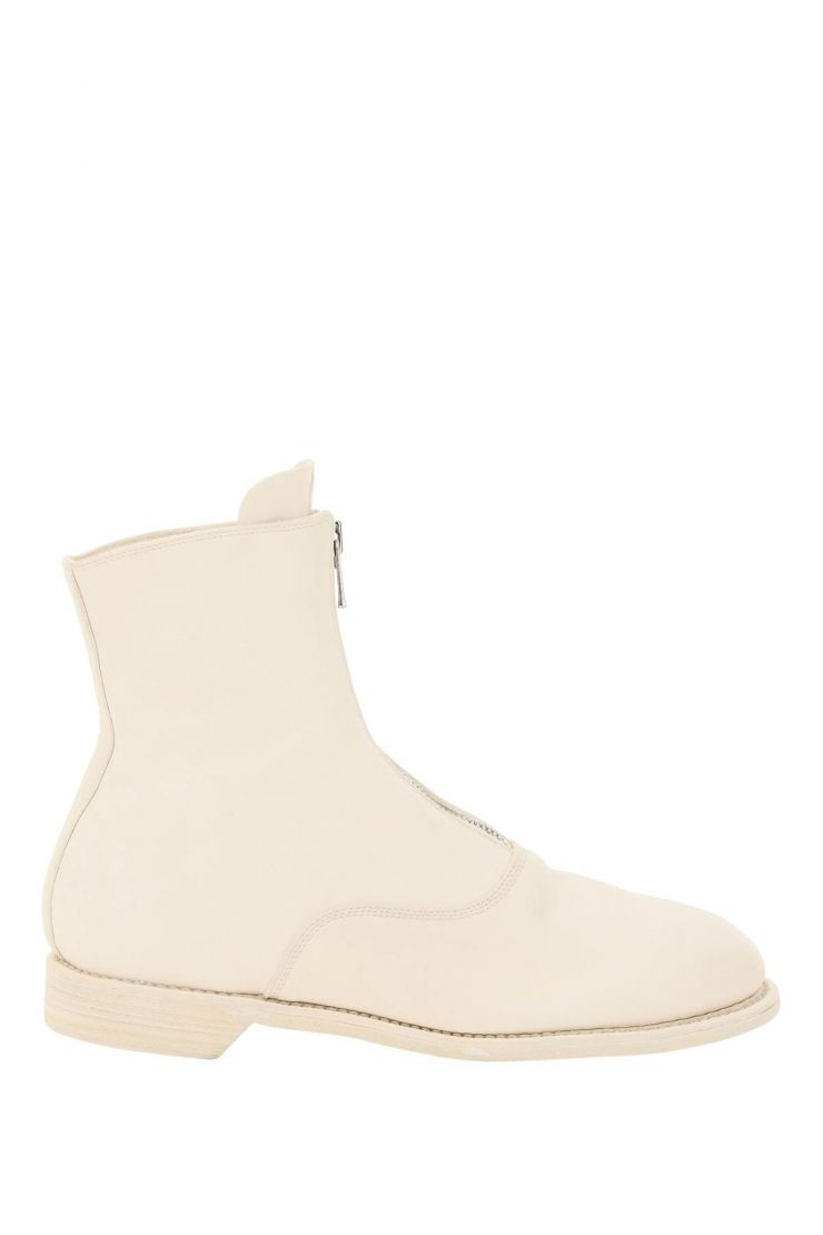 guidi boots front zip leather ankle boots