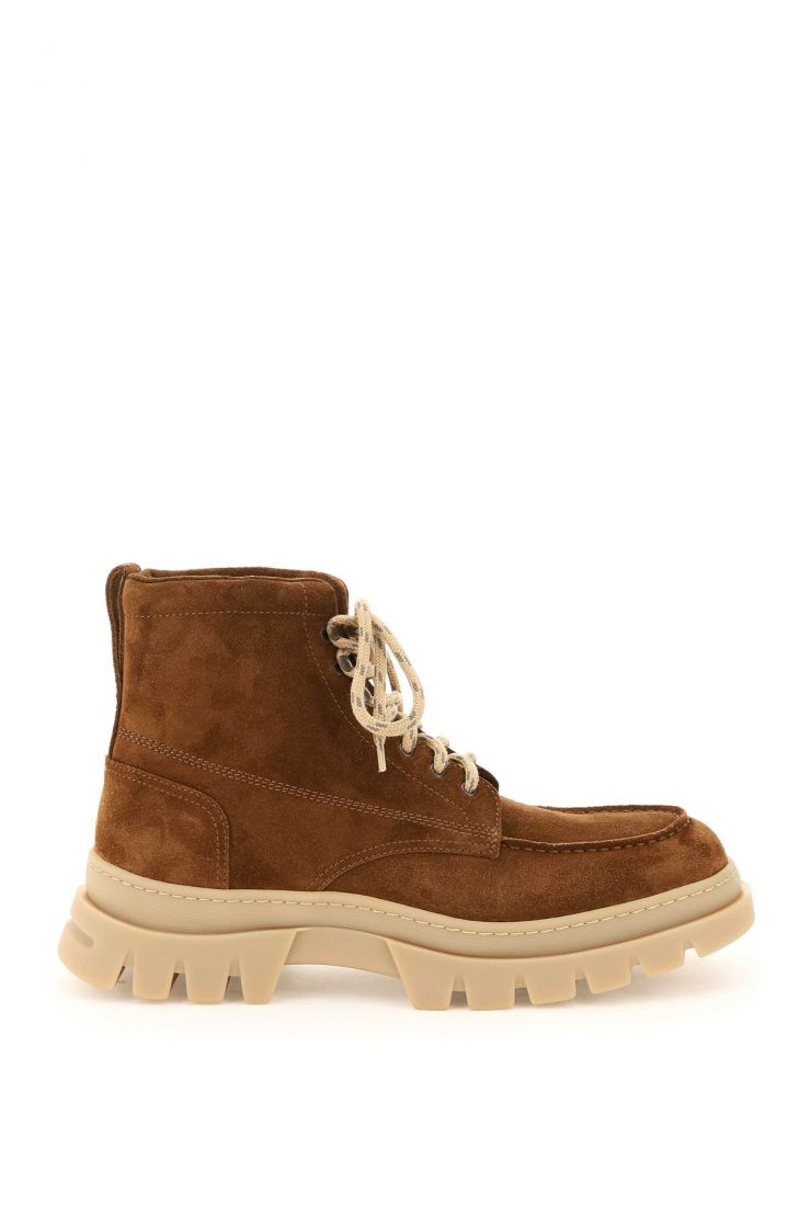henderson boots suede leather lace-up boots