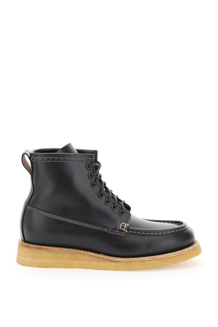 henderson boots lace-up leather boots
