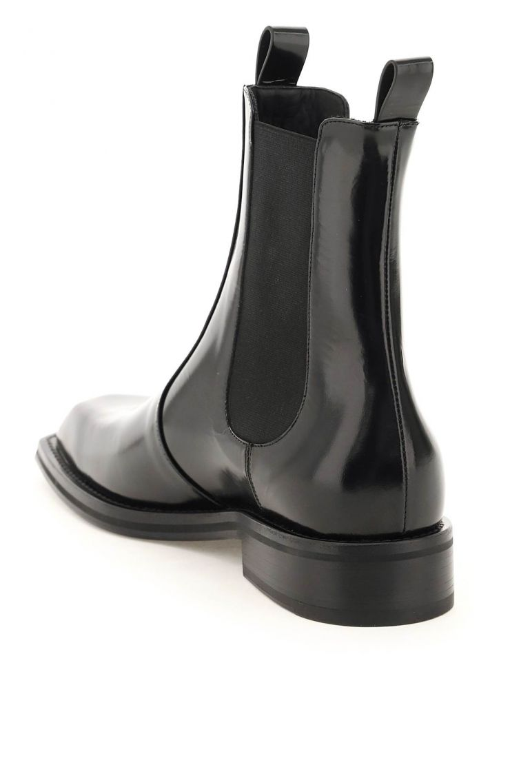 martine rose boots brushed leather chelsea boots