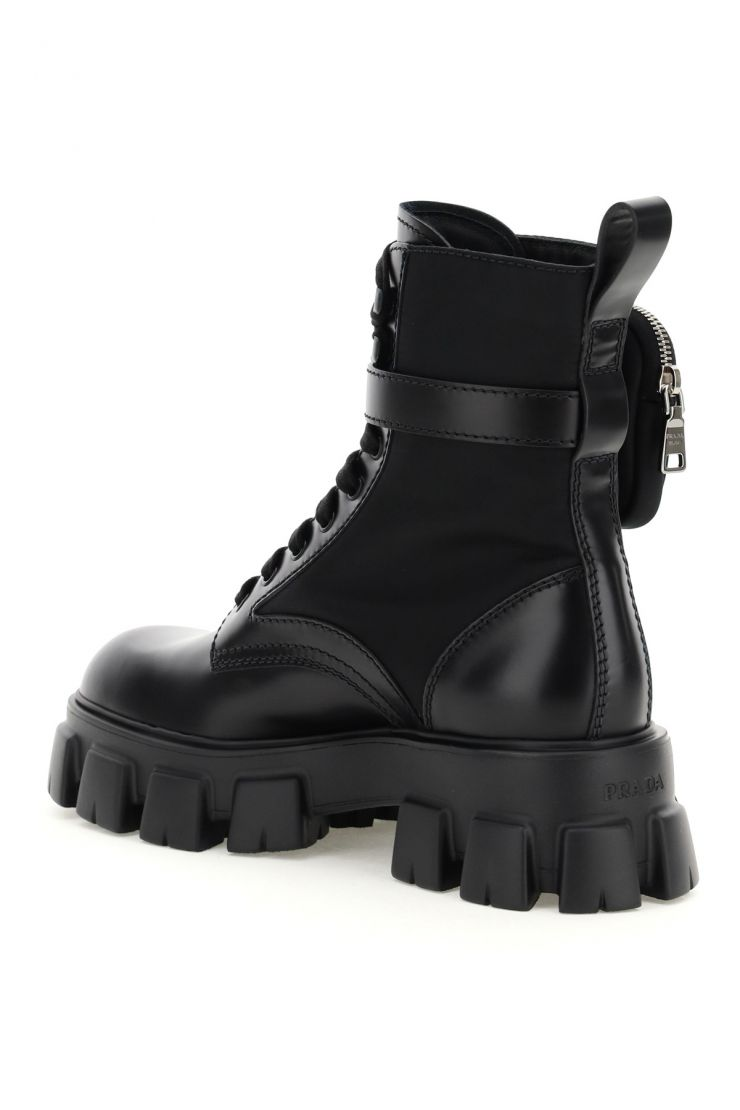 prada bra197 monolith boots with pouch