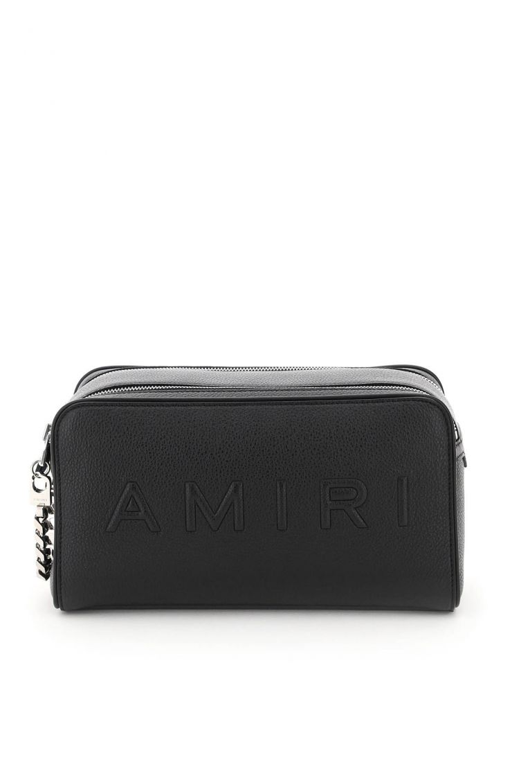 amiri business and travel bags double zip pouch
