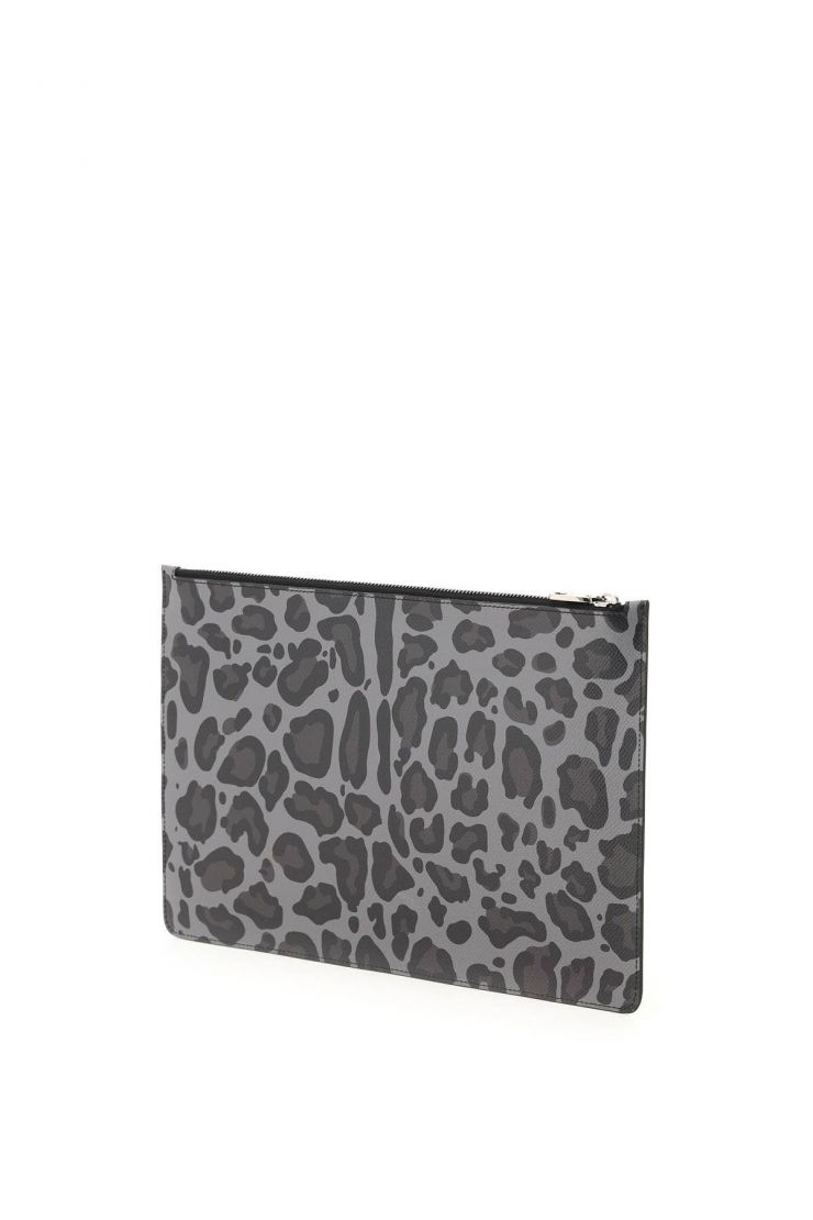 dolce & gabbana business and travel bags leopard dauphine pouch