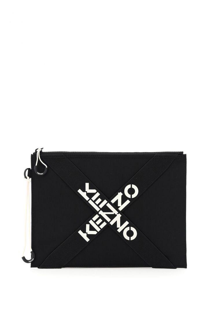 kenzo business and travel bags large pouch cross logo