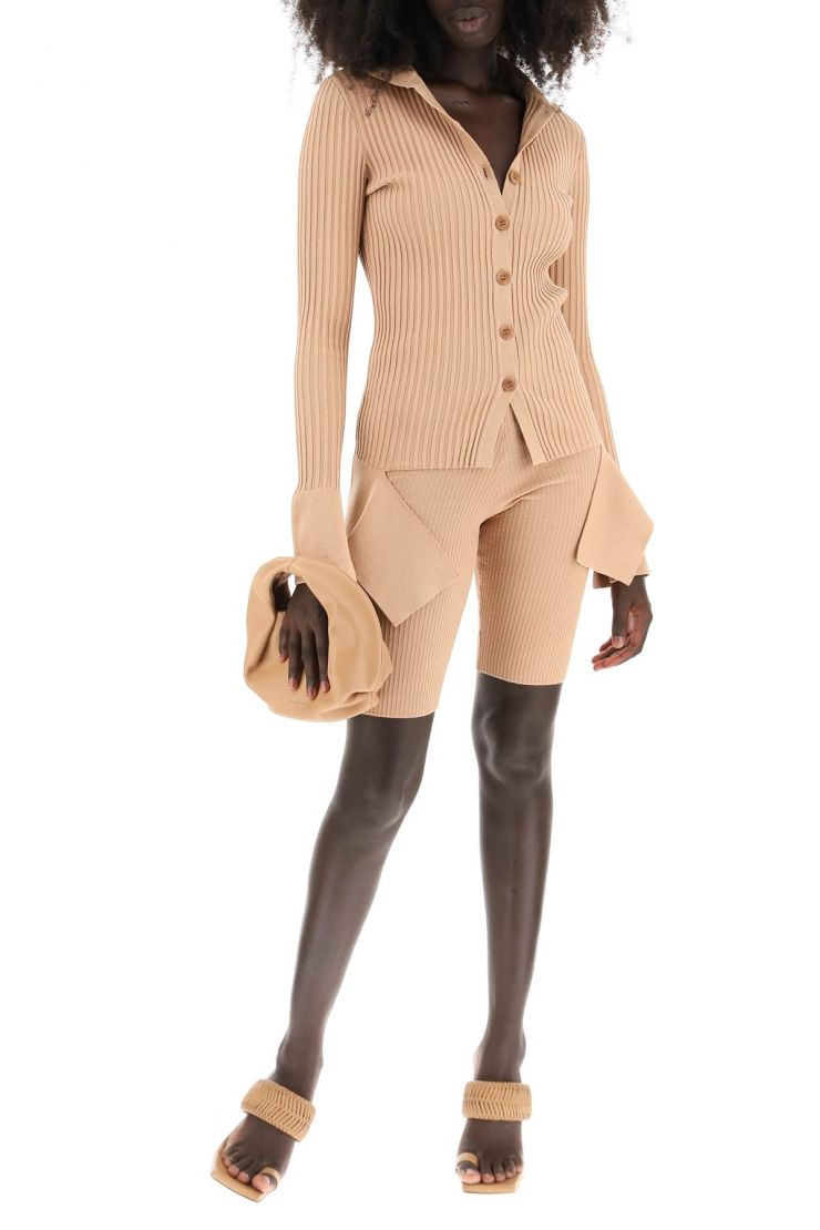 adamo knitwear cardigan with cut-out detail