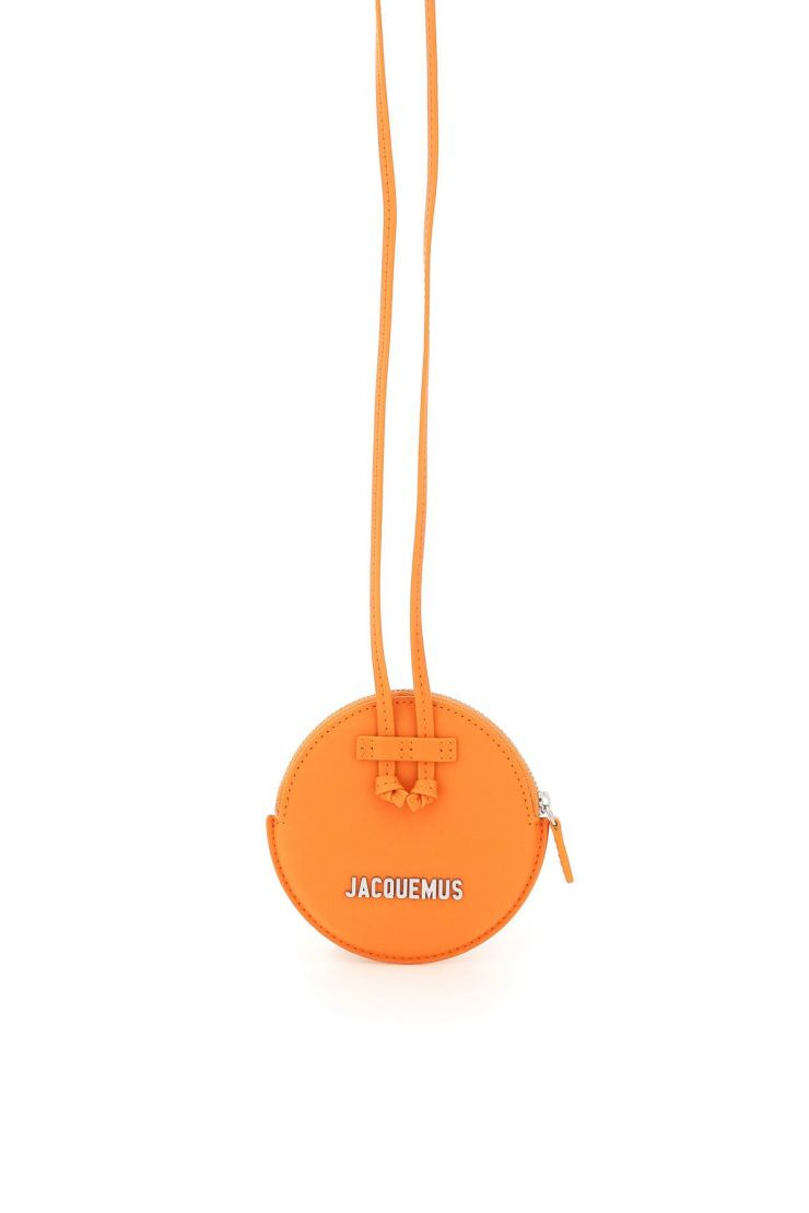 jacquemus crossbody bags le pitchou round pouch with strap