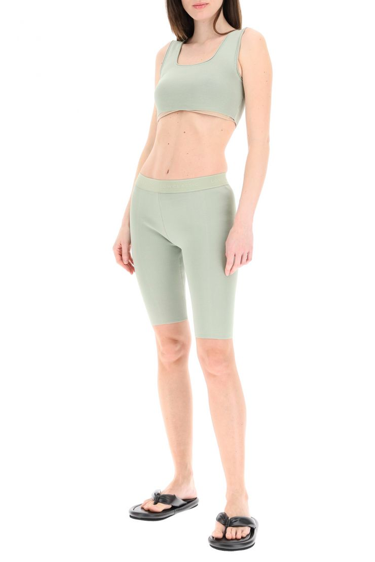 low classic comfy at home  shorts aderenti in maglia