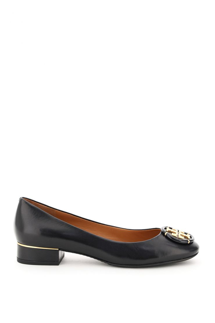 tory burch flats leather ballet flats with logo