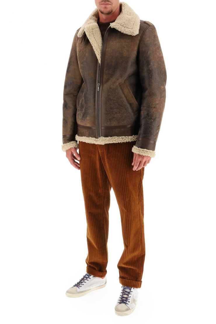 golden goose giacconi giacca arvel in shearling