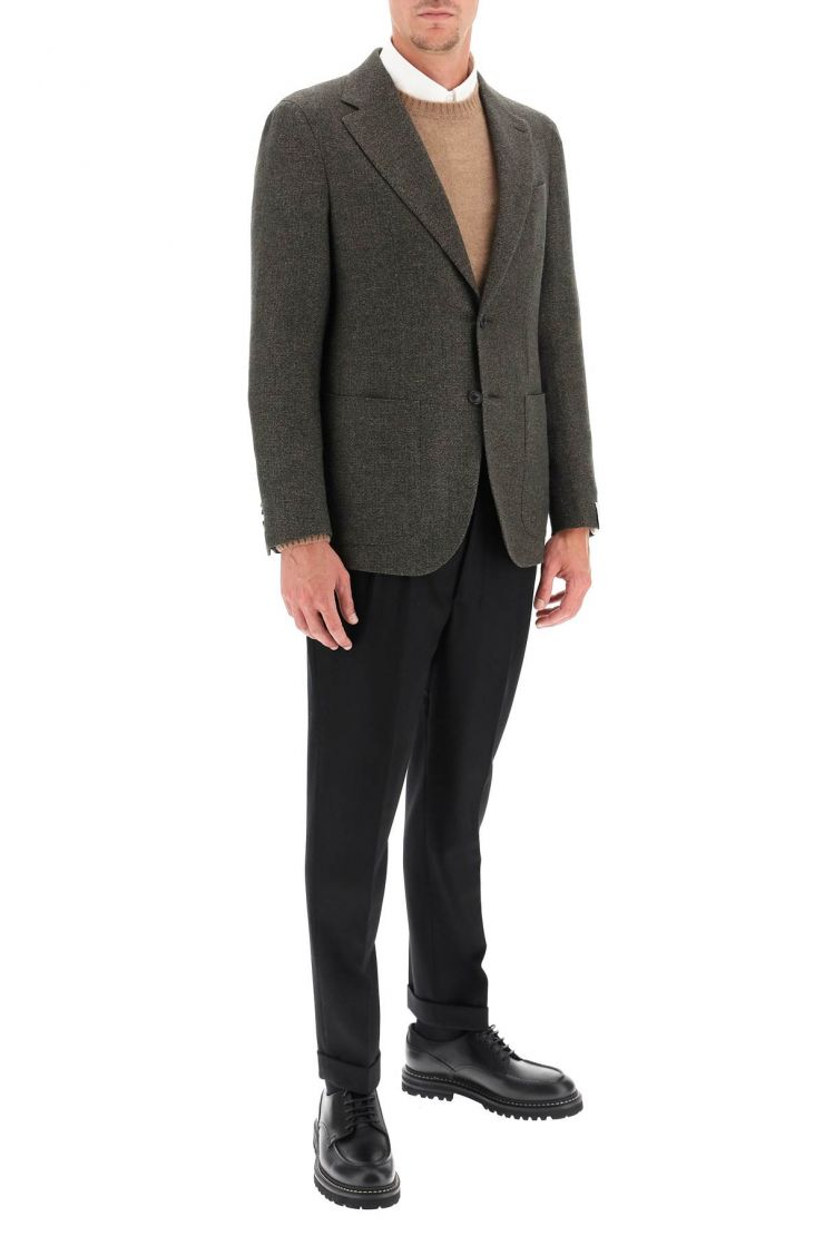 caruso jackets/blazers tosca jacket in cashmere wool and linen