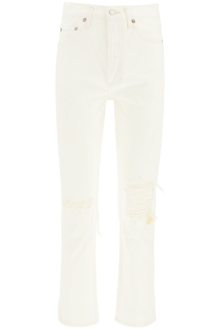 agolde bra903 riley high rise straight crop jeans