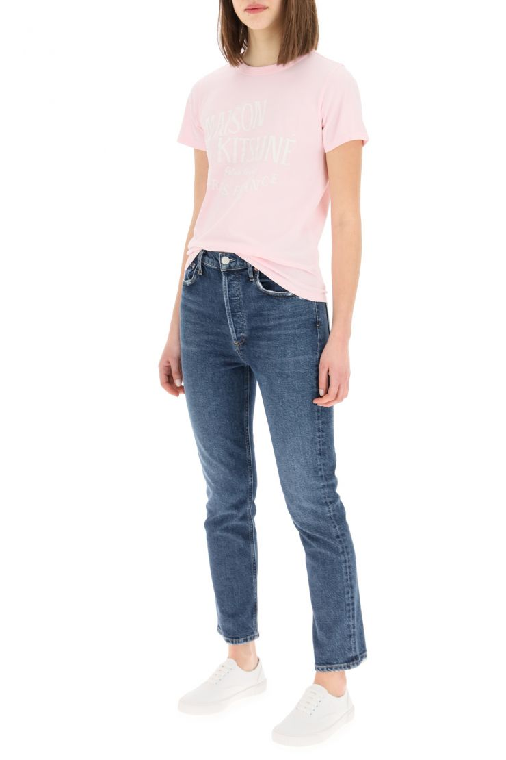 agolde essentials riley high rise straight crop jeans