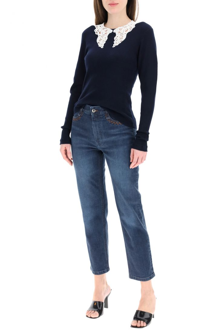 chloe' jeans jeans with laser logo