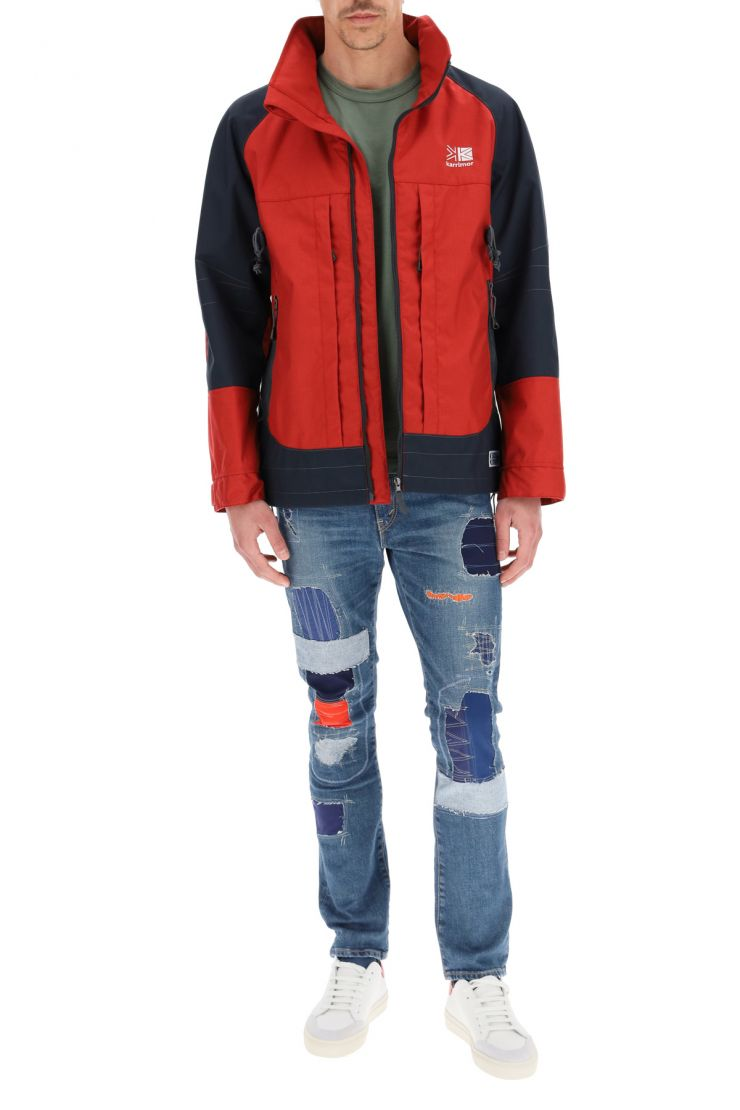 junya watanabe relaxed elegance levi's patchwork jeans