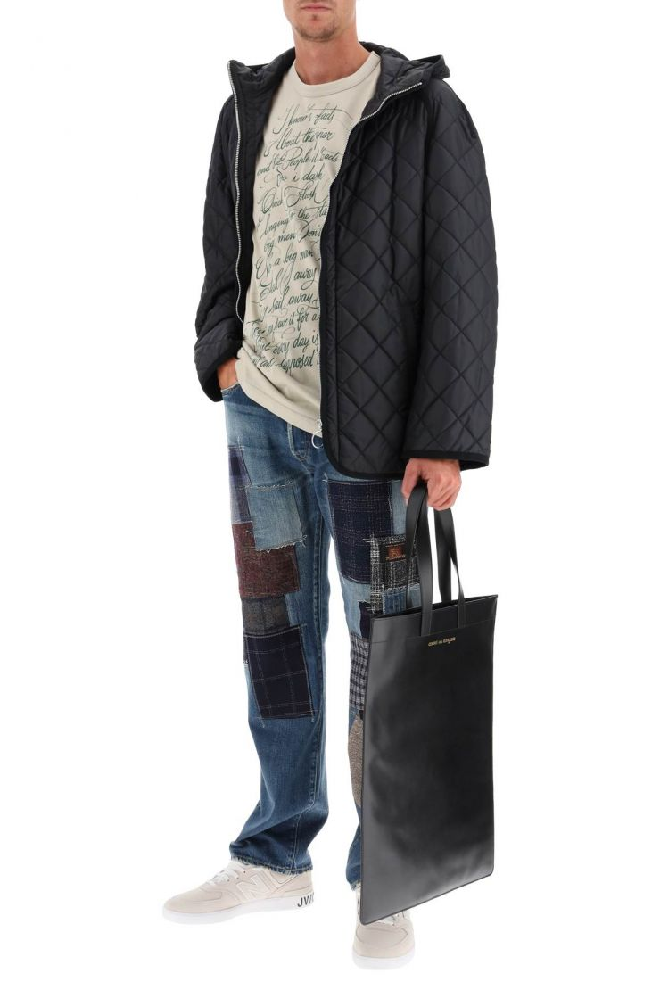 junya watanabe jeans eye jeans with patchwork