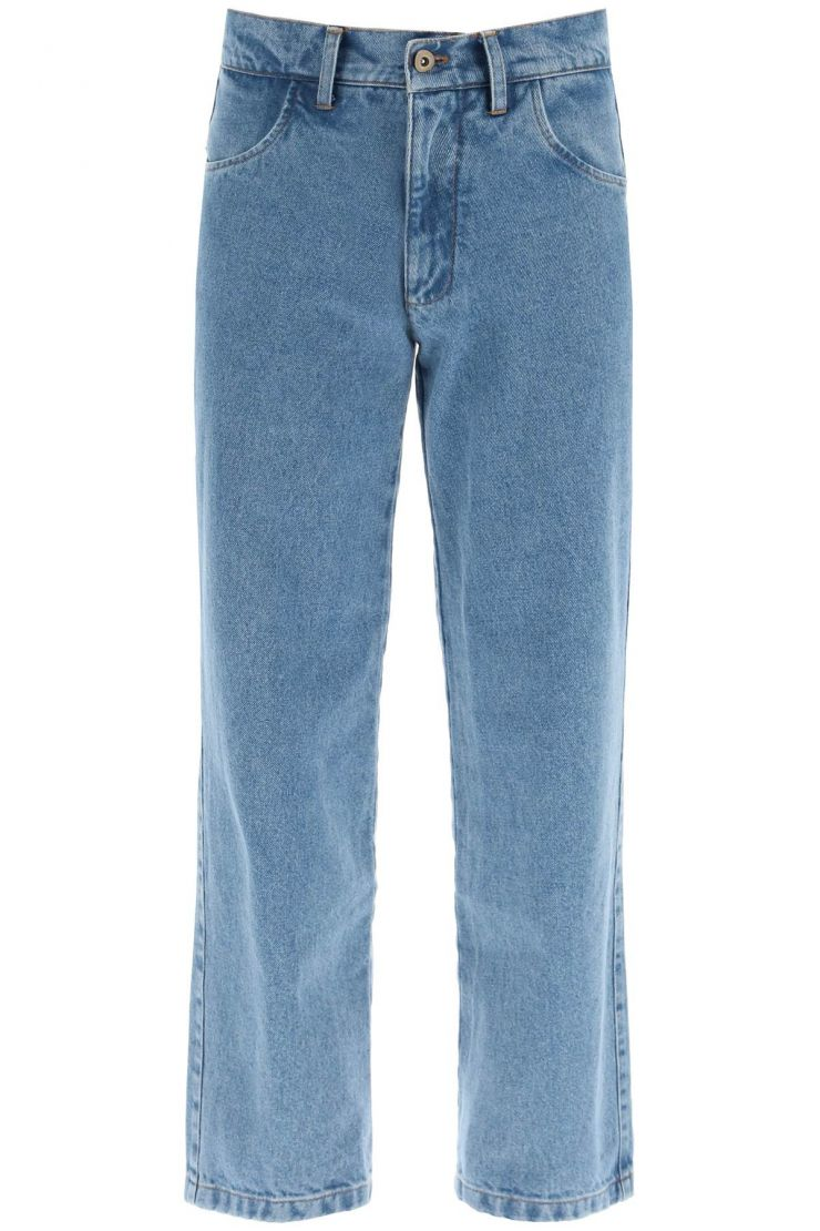 liberal youth ministry jeans denim pants with logo patch