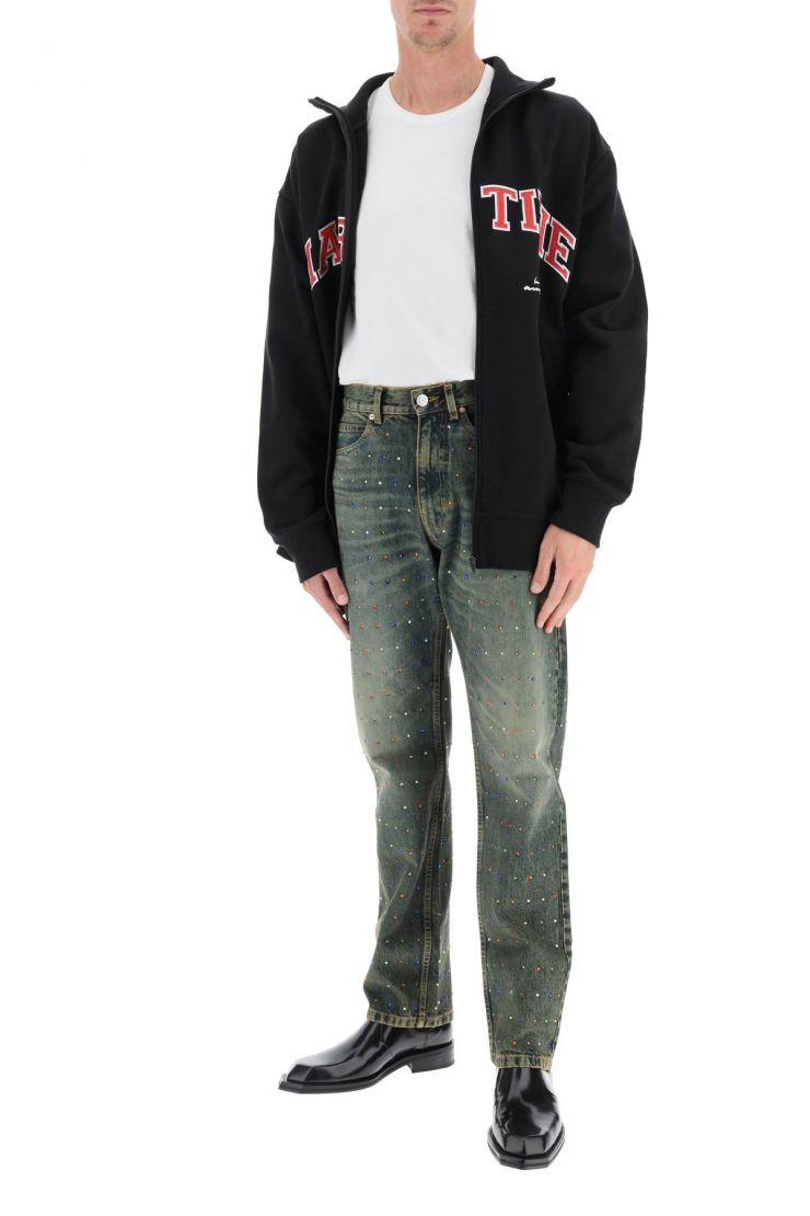 martine rose jeans jeans with rhinestones