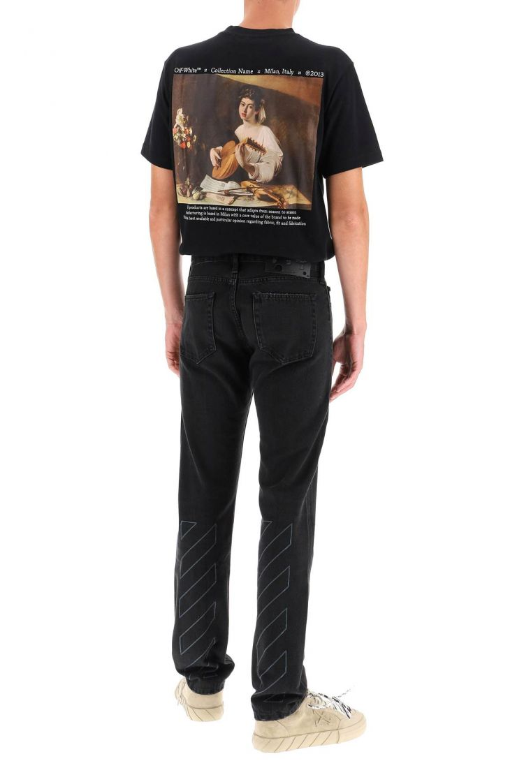 off-white jeans diag slim jeans